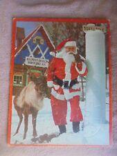Vtg Htf Santa's Workshop North Pole NY Photo Post Offc Xmas Reindeer Puzzle 100%