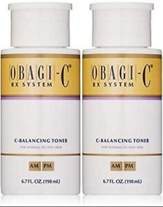 Obagi-C C-Balancing Toner Rx System, (Normal to oily skin) 6.7 Fl oz Pack of 2