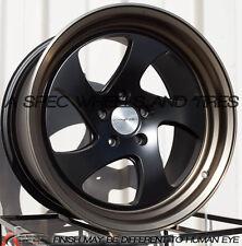 18x10 Varrstoen MK2 5x100mm +30 Black Wheels Aggressive Fits Brz Impreza Neon Tc