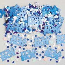 It's A Boy Metallic Blue Silver Baby Shower Confetti Table Sprinkles