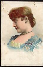 CLIMAX BAKING POWDER*GATES' BLENDED JAVA*COFFEE*VICTORIAN LADY TRADE CARD*