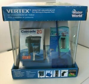 Vertex Desktop Aquarium Kit for Shrimp and Small Fish 5 Gallons NEW Water World