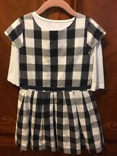 Little girl Jacadi summer Checked waisted dress size 6