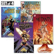 The New Mutants Dead Souls #1 J Scott Campbell Unsigned Variant Set Of 4 Magik