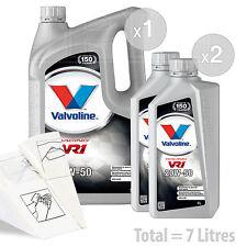 Car Engine Oil Service Kit / Pack 7 LITRES Valvoline VR1 Racing 20w-50 7L