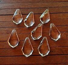 8 große Koppen aus Kristallglas für Kronleuchter / Lüster, 60 mm