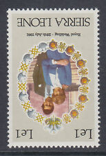SIERRA LEONE 1981 1l WEDDING WITH INVERTED WATERMARK SG 670w MNH.