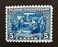 US Stamp, Scott #550 5c Pilgrim Issue of 1920, M/NH, VF/XF. Beautiful and fresh.