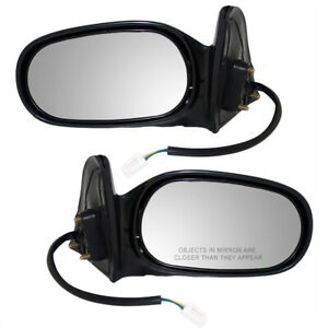Fits Toyota Corolla 98-02 Chevy Prizm Set Side Power Mirrors 94857544 94857543