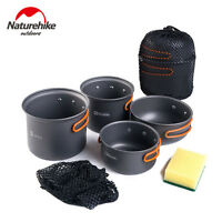 NH15T401-G Aluminum Alloy Outdoor Camping Cookware Pot Pan Bowl Camping  Hiking