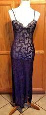 Vintage Victoria's Secret Gown Robe Lace Bridal Honeymoon Lingere Amethysts Sm