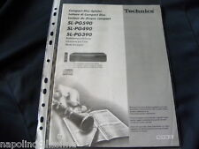 Technics SL-PG 590 / 490 / 390  Owner's manual Mode D'emploi Istruzioni