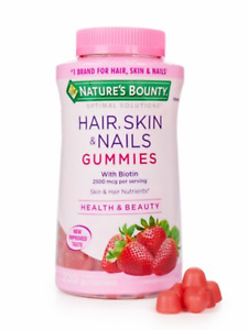 NATURE'S BOUNTY HAIR, SKIN & NAILS GUMMIES 230 Ct- ANTIOXIDANTS E &C- NEW TASTE