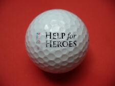 Pelota de golf con logo-Help for Heroes-golf logotipo pelota como recuerdo regalo......