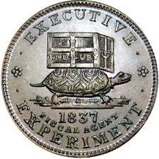 1837 Anti Andrew Jackson Political Hard Times Token Donkey Turtle HT-33 Low 19