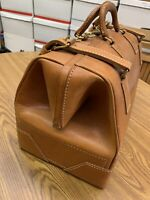 Vintage Luxury SALZ Saddle Leather Bag Physicians Medical Bag