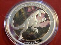 2014-P 1 oz. $1 Australia Age of Dinosaurs Australovenator Proof Silver