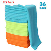 36 Pack Microfiber Cleaning Cloths Rag Car Polishing No Scratch Detailing Towels