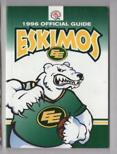 1996 Edmonton Eskimos Medai Guide CFL