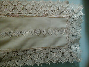 lots of floral lace polyester 16X70 table runner new no tag