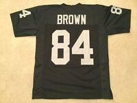 UNSIGNED CUSTOM Sewn Stitched Antonio Brown Black Jersey - M, L, XL, 2XL
