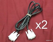 2 DVI 5ft Male to Male DVI-D Single Link 18+1 Pin Computer Monitor PC Cable 1080