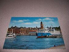 1960s CAROLA SHIP in HELSINGBORG HARBOR SWEDEN VTG POSTCARD