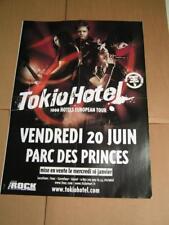 Poster TOKIO HOTEL - PARIS - 1000 HOTEL EUROPEAN TOUR 2008  // JAMES BLUNT - ALL