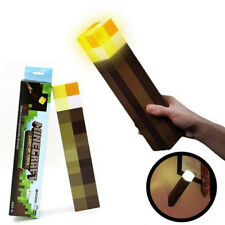 Minecraft Torch Light Up Bright Children Kids Fun Toys Wall Mountable Room Lamps