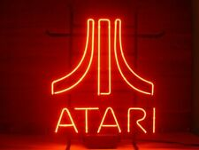 """Atari Red Video Game Room 14""""x10"""" Neon Sign Lamp Light Beer Bar With Dimmer"""