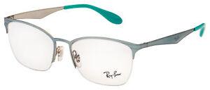 Ray-Ban Eyeglasses RX 6345 2919 54 Green,Silver Frame [54-17-135]