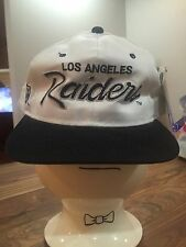 Vintage Deadstock Los Angeles Raiders Sports Specialties Snapback Hat NOS Script
