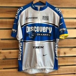 EUC Mens Nike Discovery Channel Trek AMD Cycling Racing 3/4 Zip Jersey XL