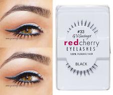 NIB~ Red Cherry #33 False Eyelashes BOTTOM UNDER Lashes Black AUTHENTIC Lulu