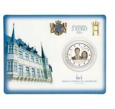 """Luxemburg 2 euro """"15 Jaar Henri"""" 2015 BU Coincard Commemorative - In Stock!"""