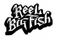 Shaped Vinyl Sticker 16x11cm ska punk reel big fish car iPad laptop retro 2tone
