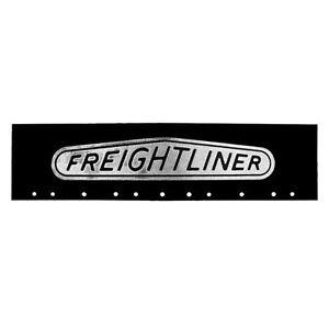 "Freightliner Black/Silver 6"" x 24"" Semi Truck Mud Flap-quarter Fender Flaps-Set"