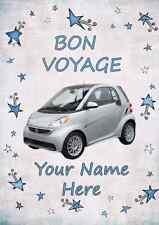 Coche Smart Bon Voyage A5 tarjeta de felicitación personalizada pidsma1