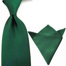 Men's Solid Color Tie Handkerchief Set Wide Necktie Hanky Pocket Square Lot
