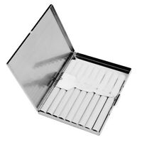 Ultra-slim Simple Stainless Steel Cigarette Carry Case Storage Box Smoker Gift P