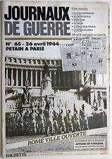 Journaux de Guerre n°65- 1944 - Pétain à Paris