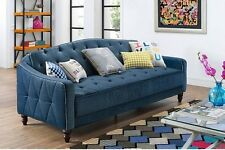 Sleeper Sofa Bed Couch Futon Vintage Living Room Furniture Pull Out Cot Lounger