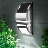 ROCKLINE SOLAR PIR 2 LED POWERED MOTION SENSOR WALL GARDEN SECURITY BRIGHT LIGHT