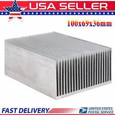 Large Big Aluminum Heatsink Heat Sink Radiator For Led Amplifier Transistor Amp