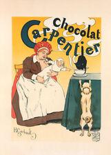 Chocolat Carpentier by Henry Gerbault 90cm x 64cm Art Paper Print