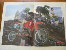 A518-JEFF LEISK HONDA MOTOCROSS MX POSTER 1988 ? NOT 100 % OK