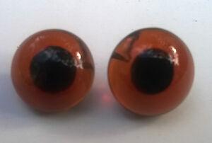 Heidifeathers® Glass Eyes Needle Felting, Bears, Dolls - Looped back, 8mm - 16mm