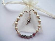 Christening, holy communion personalised bracelet gift!