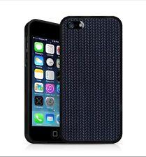 Backhug Slim Case for Apple iPhone 5 5s, Black Frame & Jacaranda Blue Leather