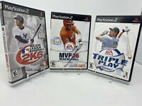 PS2 Baseball Game Lot of 3 PlayStation 2 Sony MLB NCAA 2K6